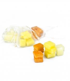 Saquitos de Ceras Aromatizadas de Naranja, Limón o Flor de Azahar